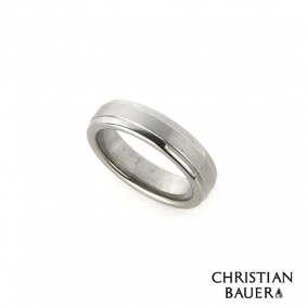 Christian Bauer 18k White Gold & Platinum Wedding Band